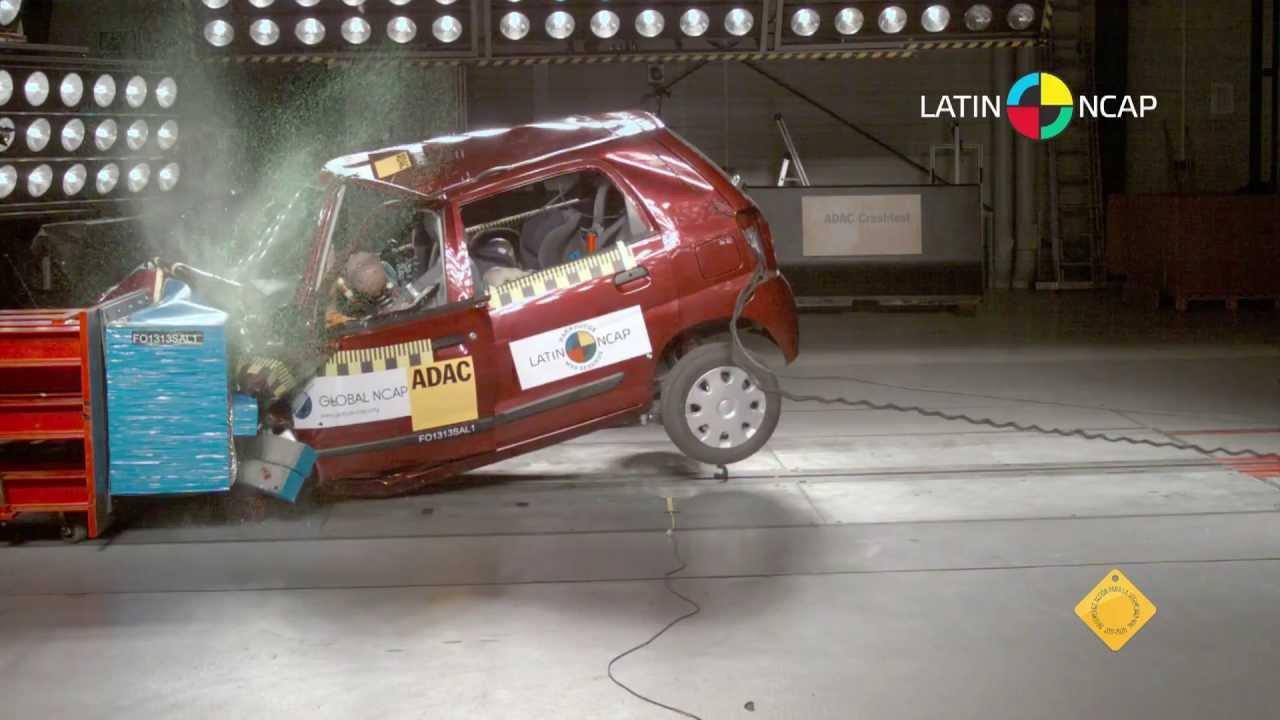 suzuki alto k10 2013 crash test latin ncap no airbags youtube. Black Bedroom Furniture Sets. Home Design Ideas