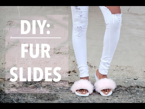 8196ccf1e505 DIY  Rihanna Puma Fur Slides - YouTube