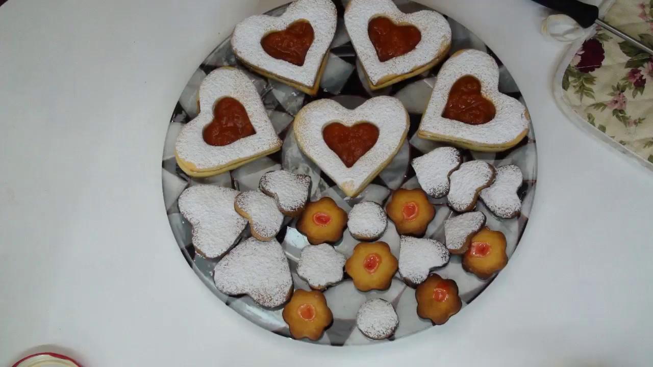 На день Валентина.Вкусное печенье большое сердце.For valentine's  day.