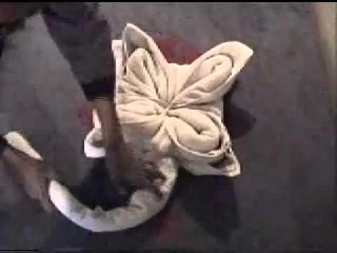 Como hacer figuras con toallas youtube for Adornos con toallas