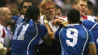 Alesana Tuilagi V Lewis Moody FIGHT / England V Samoa 2005