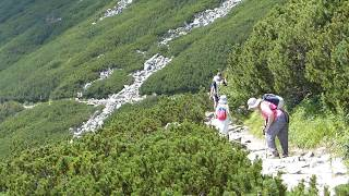 Magas Tátra, túra a Kőpataki tó és a Tarpataki vízesések között, SzG3