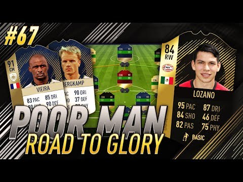 SQUAD BUILDER w/ SIF LOZANO and NEW PRIME 91 VIEIRA ICON - Poor Man RTG #67 - FIFA 18 Ultimate Team