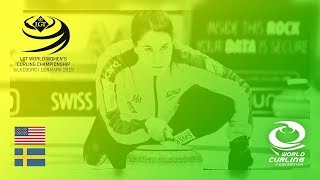 United States v Sweden - round robin - LGT World Women's Curling Championships 2019