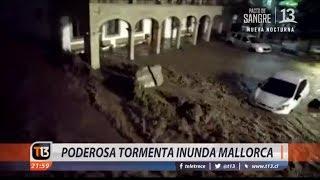 Poderosa tormenta inunda Mallorca