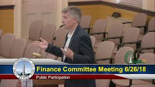 Finance Committee Meeting 6/26/18