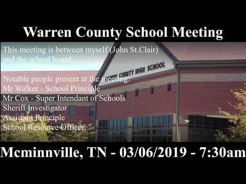 Warren County High School Staff Meeting - John St.Clair - 03/06/19