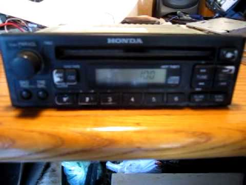 Unlock a Honda Civic Radio By Entering a Code - YouTube