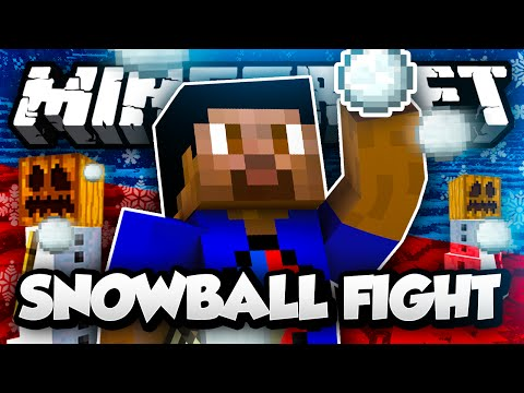 Minecraft SNOWBALL FIGHT #1 with Vikkstar, Woofless & Lachlan