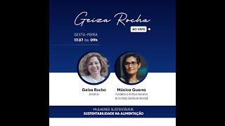 """Live   Mulheres Sustentáveis   """"Sustentabilidade na Alimentação"""" com Mónica Guerra"""