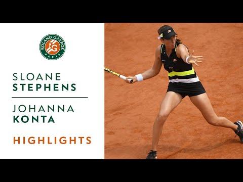 Sloane Stephens vs Johanna Konta - Quarterfinals Highlights | Roland-Garros 2019