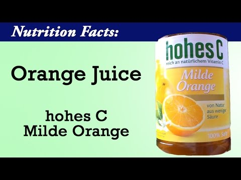 Nutrition Facts: Is Orange Juice healthy? Hohes C orange juice nutrition facts | Healthy Germany
