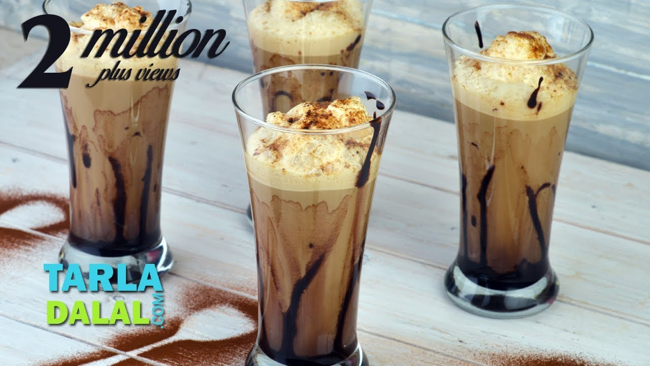 Cold Coffee Recipe Frothy By Tarla Dalal