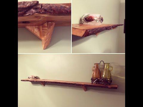 DIY Live Edge Shelf From Pallet Wood