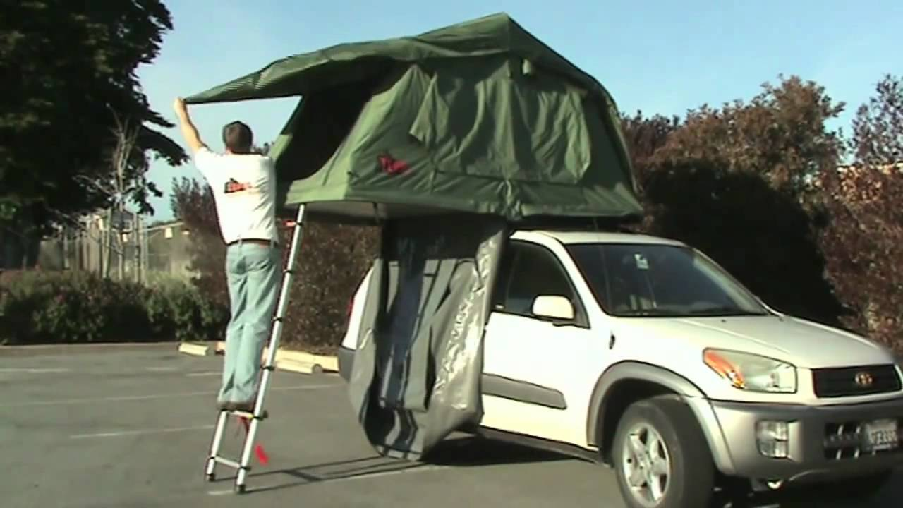 How To Set Up A Tepui Roof Tent & How To Set Up A Tepui Roof Tent - YouTube