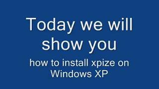 how to install xpize