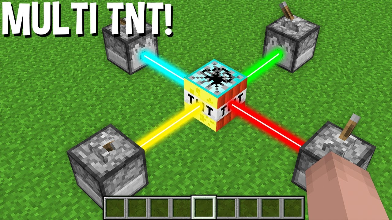 LIKE this CAN CREATE MULTI TNT using LASER in Minecraft ! NEW TNT !