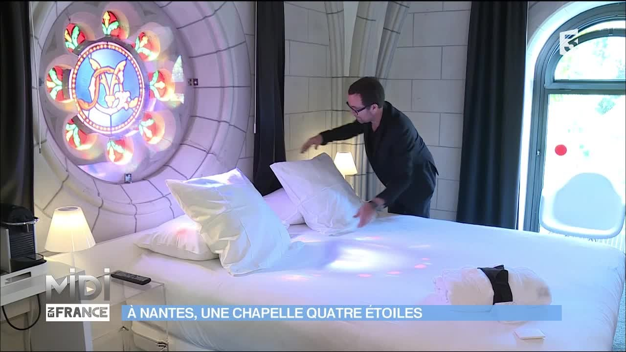 nantes une chapelle transform e en h tel 4 toiles youtube. Black Bedroom Furniture Sets. Home Design Ideas