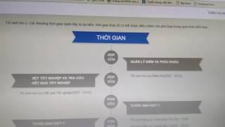 Video hướng dẫn thí sinh tra cứu thông tin dự thi THPT QG và xét tuyển ĐH CĐ 2017
