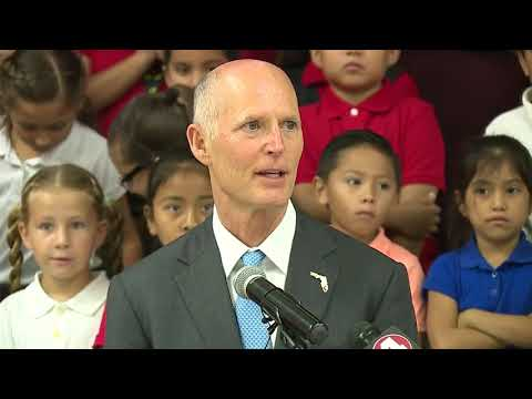 Raw video: Florida Gov. Rick Scott speaks at Highlands Elementary School in Immokalee