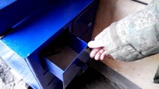 Шкаф для гаража своими руками.(Сделал небольшой шкафчик под сверлильный станок. Получилось очень удобно, Все свёрла, болточки, гаечки..., 2015-04-12T11:42:22.000Z)