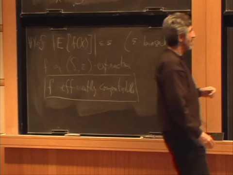 Pseudorandomness - Randomness extractors - Avi Wigderson