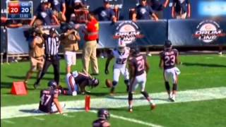 Chris Conte Probed by Fred Jackson's Stiff Arm