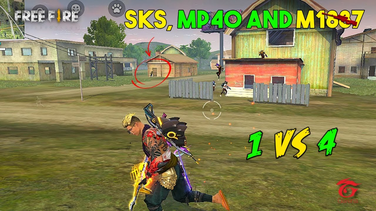 Solo vs Squad Best Ajjubhai94 SKS, Mp40 and M1887 Gameplay - Garena Free Fire