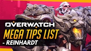 Overwatch | MEGA Reinhardt Guide for Non-Reinhardts! - Tips and Advice