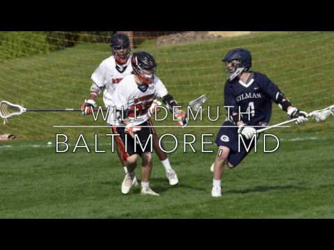 Will Demuth Lacrosse 2016: Gilman/FCA Maryland '18   Fall Highlights