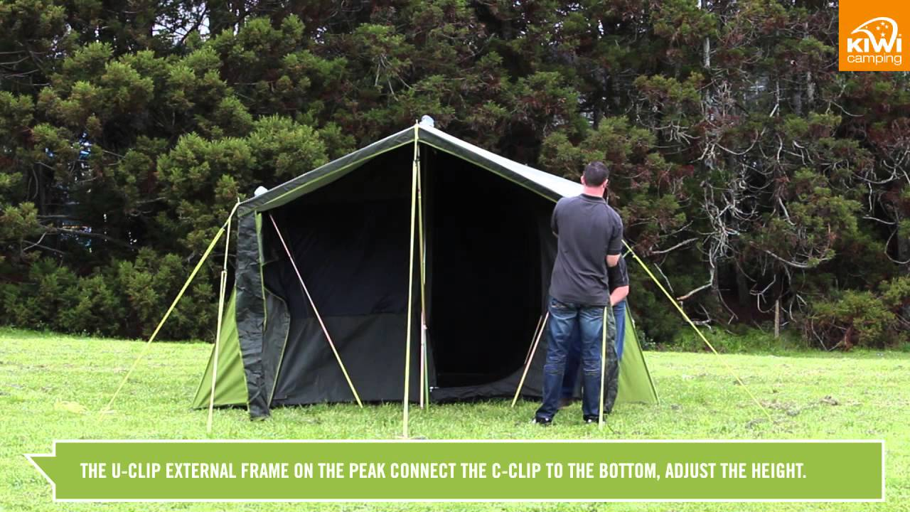 Kiwi C&ing Kakapo Canvas Tent Series - Pitching & Kiwi Camping Kakapo Canvas Tent Series - Pitching - YouTube