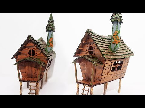DIY Fairy House Using Cardboard | Cardboard Witch House | Recycling Trash |DIY|
