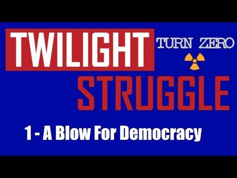 Twilight Struggle - Expert Play - TURN ZERO - #1: A Blow For Democracy