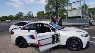 INSANE BMW M2 RACE CAR DRIVEN BY BMW PROFESSIONAL - BMW Track Day Oulton Park Track