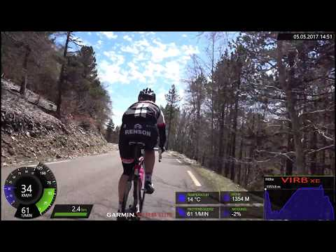 90 Minute Snow Cycling Uphill Training Mont Ventoux France Full HD Video