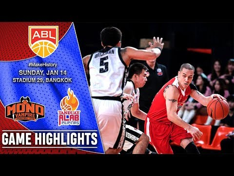Mono Vampire vs Tanduay Alab Pilipinas   HIGHLIGHTS   2017-2018 ASEAN Basketball League