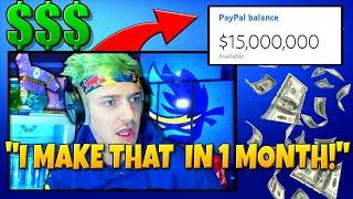 Ninja REVEALS How Mขch *MONEY* He Makes From Fortnite! - Fortnite Funny Moments