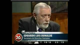 """Eduardo Luis Duhalde en """"Café las palabras"""". Parte 1"""