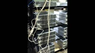 Bitcoin Mining Facility Server Racks