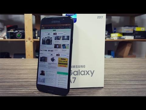 Galaxy A7 2017 kutusundan çıkıyor!