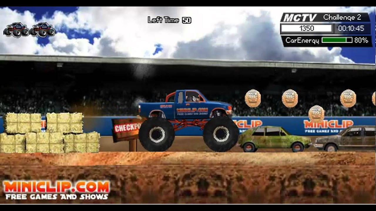 Monster Trucks Miniclip Online Game Youtube
