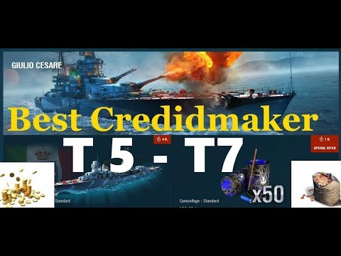 BEST Credit maker ships from T5 - T 7 Ships