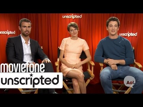 'Divergent'  Unscripted  Shailene Woodley, Miles Teller, Theo James