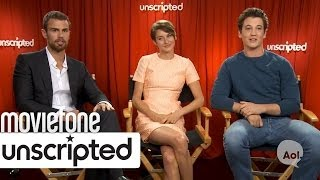 'Divergent' | Unscripted | Shailene Woodley, Miles Teller, Theo James