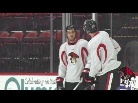 3/29 Morning Skate vs. Syracuse - Colin White