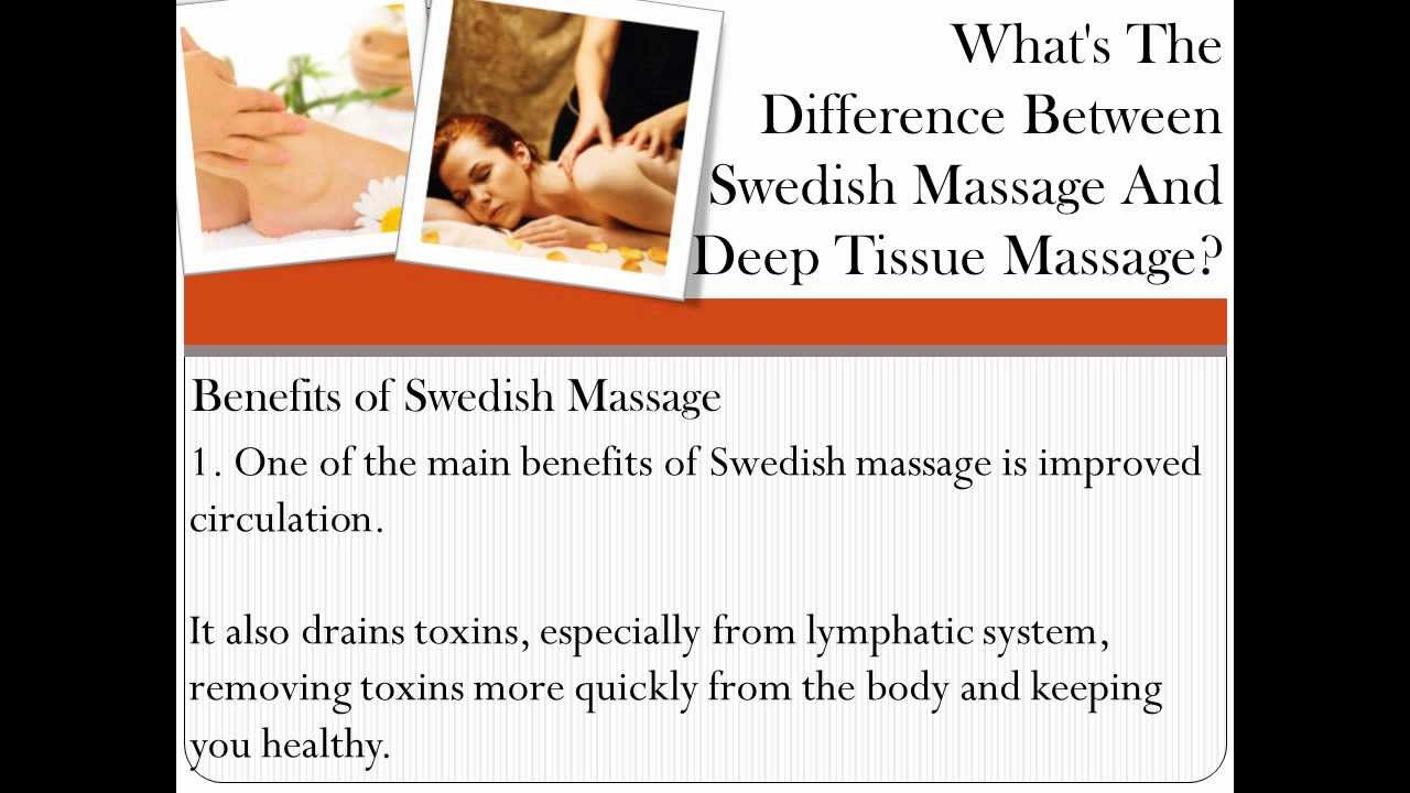 What's The Difference Between Swedish Massage And Deep Tissue ...