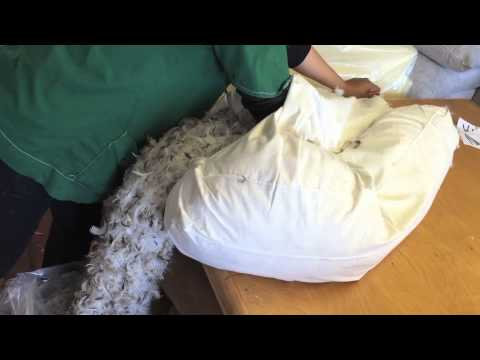Emptying Sagging Fiber:Down Filled Back Cushion 01