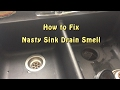 Blanco Composite Granite Sink - Strainer Review - How to Fix Nasty Drain Smell! Not CSA Approved