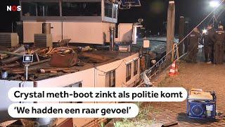 Bizar: Zinkend schip vol chrystal meth in Moerdijk