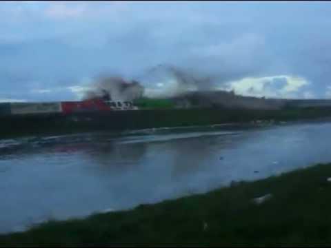 High Tide Swamps Lower East Coast road in Guyana